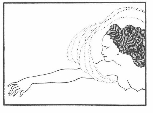 oldpainting:  Aubrey Beardsley, Flosshilde on Flickr. Click image for 800 x 594 size.