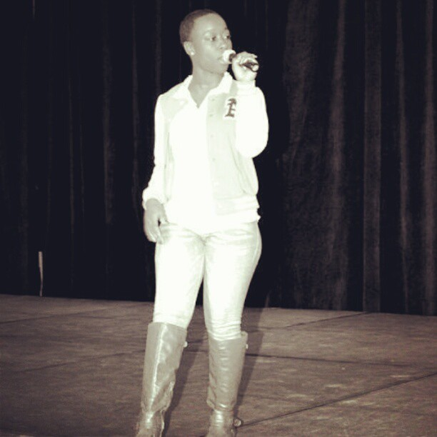 Me… performing last weekend at the black history expo. Exciting!!!