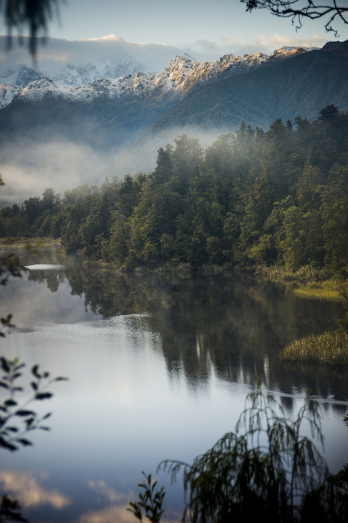 touchdisky:  Lake Matheson, New Zealand by DarrynSantich