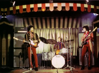 The Jimi Hendrix Experience at The Marquee Club. March, 1967.  bby