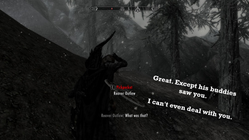 Adventures in awkward bloodsucking., courtesy of an unfortunate Dunmer vampire.