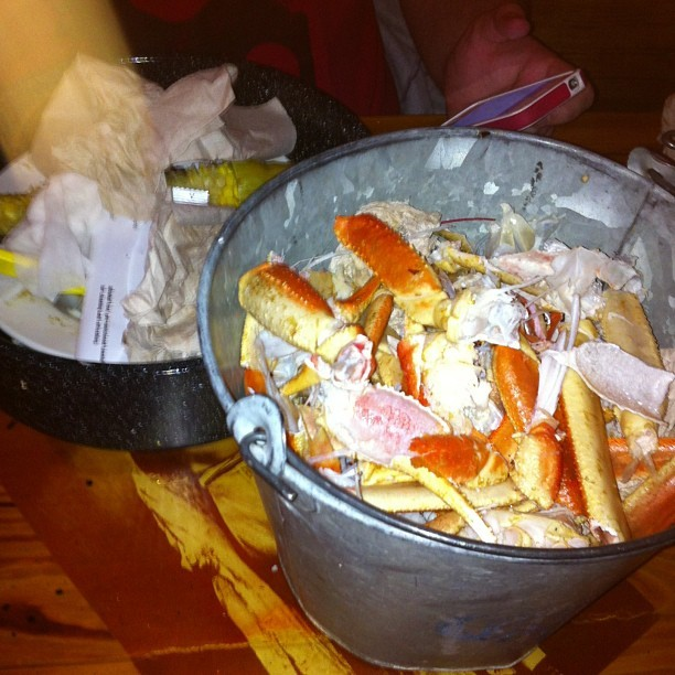 And the steam pots have been conquered! (at Joe's Crab Shack)
