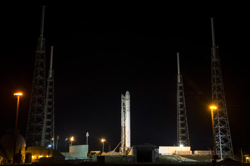 LIVE VIDEO: SpaceX rocket set to launch to Space Station Watch a live feed from NASA as SpaceX's Falcon 9 rocket, with Dragon capsule on top, attempts to launch to the International Space Station: http://www.breakingnews.com/topic/spacex-iss-flight-march-2013The mission is the second of 12 SpaceX flights to resupply the ISS. Launch is scheduled for 10:10 a.m. EST.Photo: The SpaceX Falcon 9 rocket, with its Dragon spacecraft onboard, is seen shortly after it was erected at Launch Complex 40 at the Cape Canaveral Air Force Station in Florida today. (NASA/Bill Ingalls)