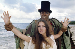 voxsart:  Bond Villains: Baron Samedi. 1973 (with the gorgeous Solitaire.)