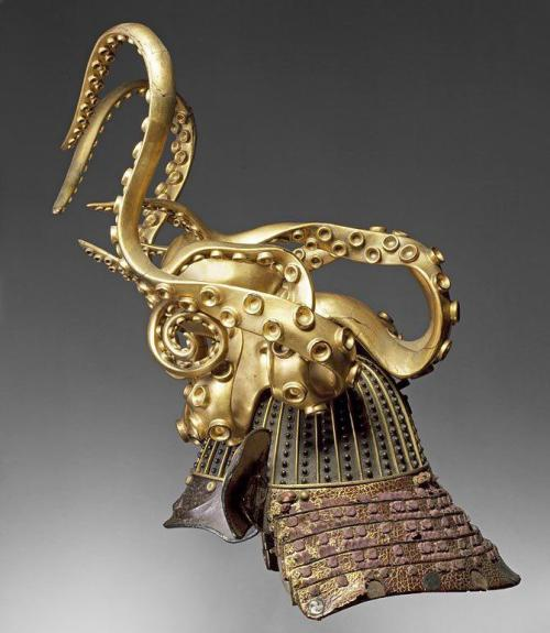 postapocalypticfashion:  japaneseaesthetics:  Samurai helmet in the shape of an octopus  Cult of the Tentacle