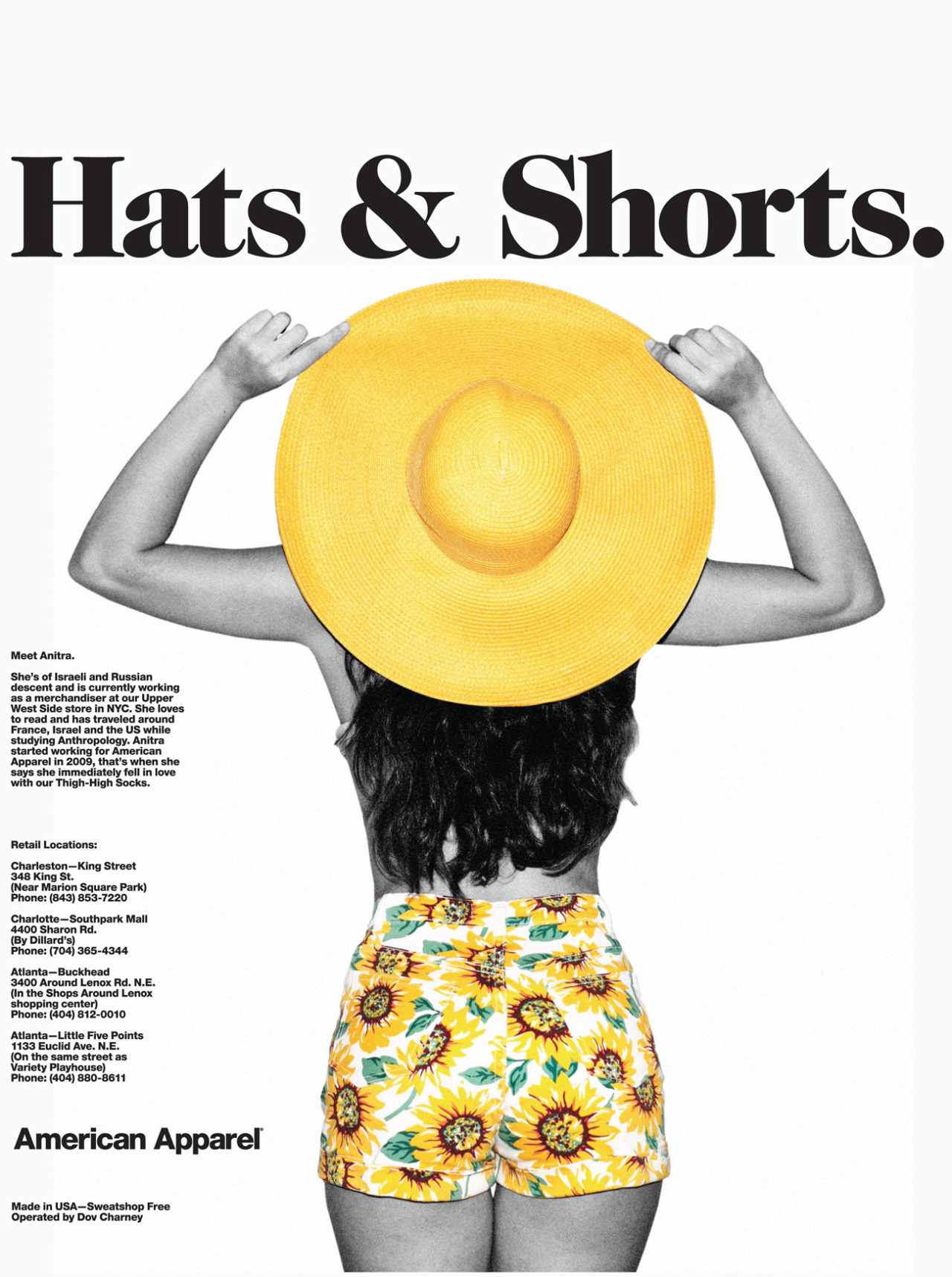 americanapparel:  Hats & Shorts. April 2013.