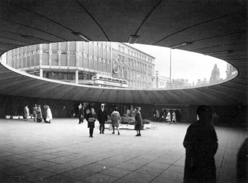 "Castle Square, AKA the ""Hole in the Road"", Sheffield c. late 1960s"
