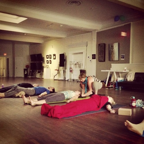 #savasana #yogs #yyc #yin well deserved tonight @ @endeavorarts