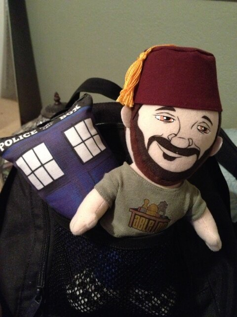 Lil @wilw and his TARDIS are ready for their cross country trip!  [submitted by @lyssapearl]
