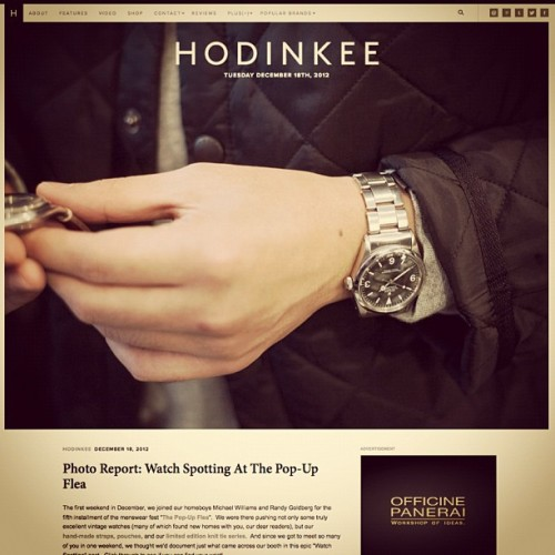 Tune into HODINKEE today for an extensive Watch Spotting post at the @pop_up_flea.  (at HODINKEE Headquarters)