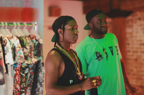 towerstreetwear:  ASAP Rocky at that RSVP gallery in Chicago!