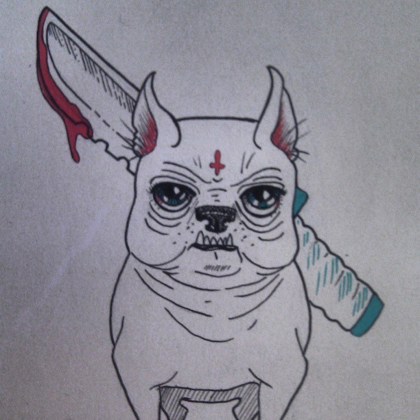 #angry  #dog #knife #satan #Mad #drawn #drawing