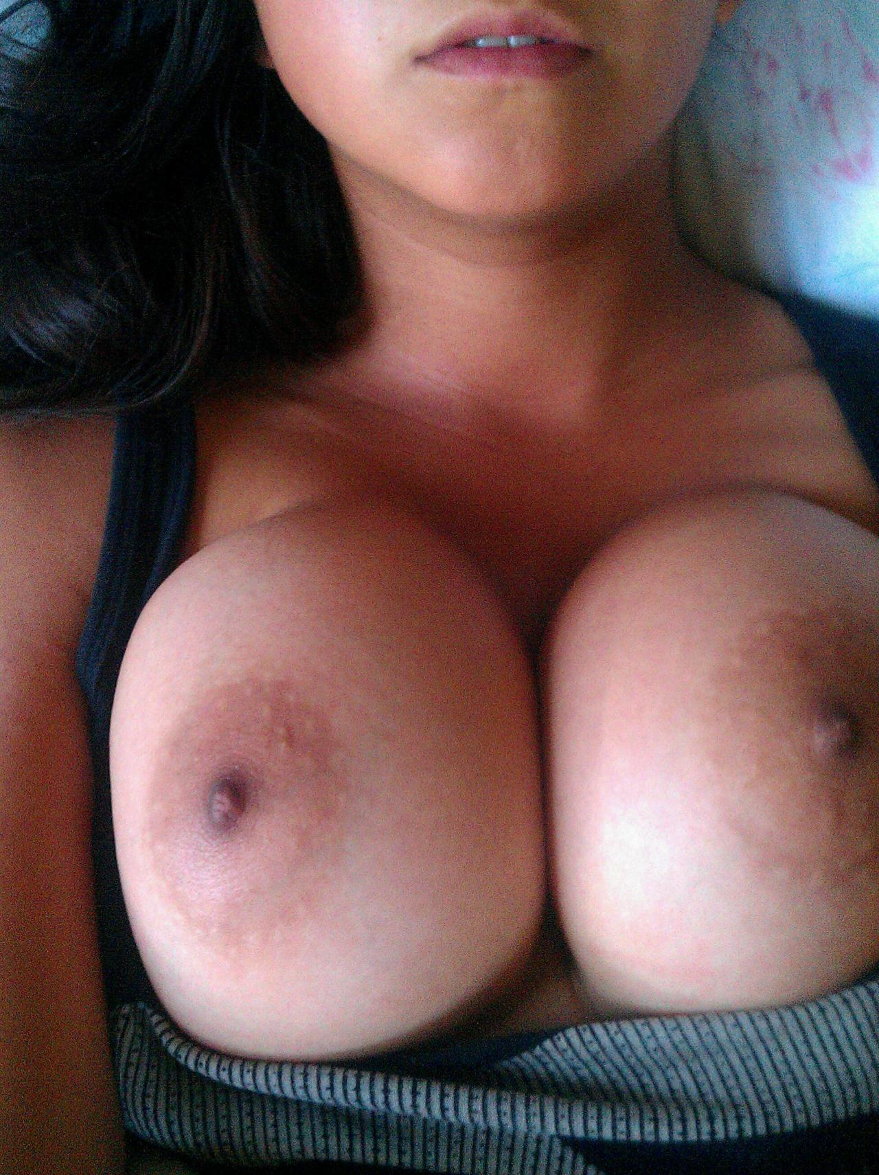 boobworld:  theboobsareback: pretty tits  I like his mouth