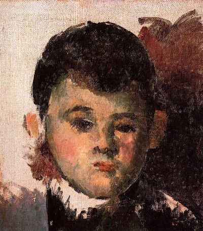 bofransson:  Portrait of the Artist's Son (unfinished) Paul Cezanne - 1877-1878