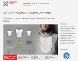 "uxrave:  The IxDA 2013 Interaction Design Award winners. If you're in UX, IxD or web design, check out the case studies! My R/GA colleagues win the ""Disruption"" award with its work on Nike Fuelband."