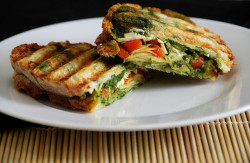 healthy-habbits:  vegan-yums:  Pesto Parsnip Panini by TahiniToo on Flickr.  Fitness blog! Lets do it together!🍎