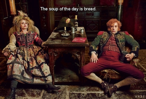 lesmiserabluths:  Lionel: And the soup of the day is bread.