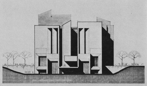 fuckyeahbrutalism:  Library Learning Center, University of Wisconsin, Madison, 1972 (Project) (Daverman Associates)