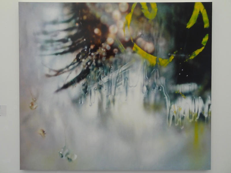 "A drippy new Marilyn Minter, ""Veils"" (2013), from Salon 94's booth at Frieze New York."