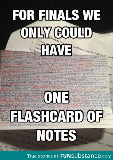 funsubstance:  Flashcard for finals