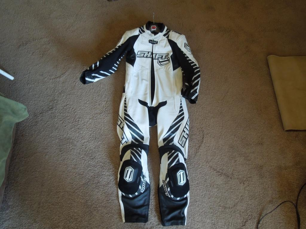 Put up my Shift Vertex 1 piece motorcycle suit for sale today.