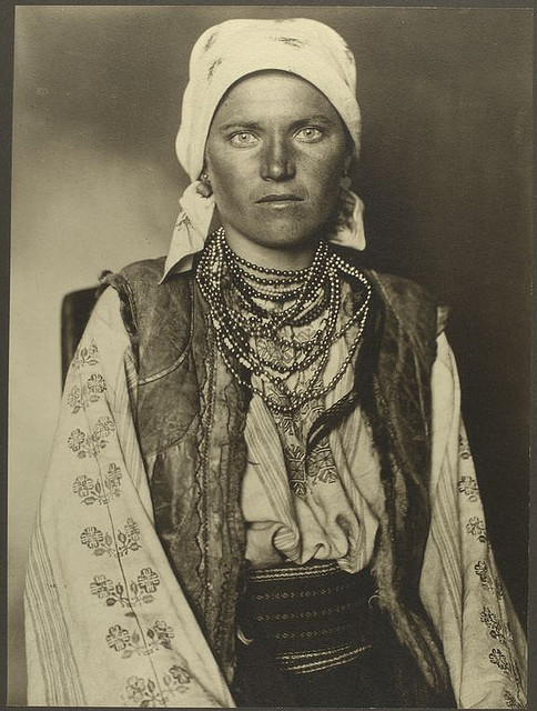 [Ruthenian woman.] by New York Public Library on Flickr.