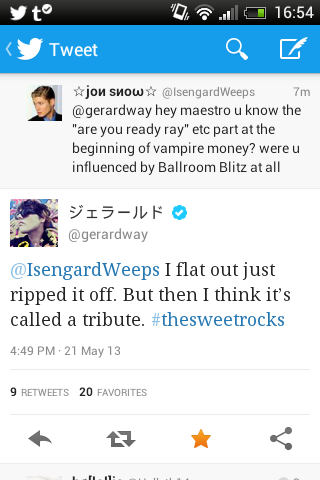IM SHAKING AND SVREAMING GERARD JUSR REPLIED TO KE HOLY SHIT??!?!?!?!?!?!