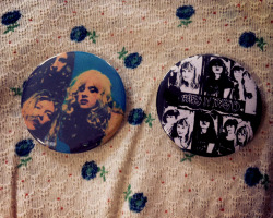 flyintothemire:  My old bandmate/friend hand made me these Babes In Toyland buttons…she makes buttons quite regularly and sells them. If anyone wants one email her at Courtney.c.dame@gmail.com Her prices are great and she sells clothes as well: www.etsy.com/shop/WildlyfeVintage  these are really cute, will definitely be ordering one!