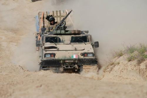 June 2012 - 8th Bersaglieri Regiment, Italian Army, on patrol in Bala Mourghab, Afghanistan.
