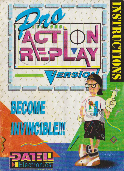 "The Pro Action Replay, everyone. I don't know if this artwork was used outside the UK, I just remember ""Techno Kid"" here appearing in every bloody issue of every gaming magazine at the time.If he looks familiar to you, it's probably because you've seen this piece of  Sonic the Hedgehog artwork before:Subtle."
