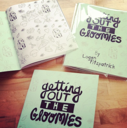 This is my new book getting out the gloomies. It's 30 pages of b&w illustrations and 30 pages of b&w drawn typography. coming sooooooon