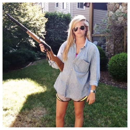 definingclassy:  Made in America y'all  Keep your fingers away from the trigger.  You're gonna hurt somebody.