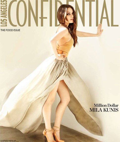 Mila Kunis on the cover of Los Angeles Confidential Magazine
