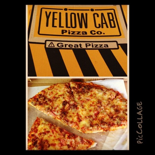 Oh yeah pizza for breakfast #yellowcab #piccollage