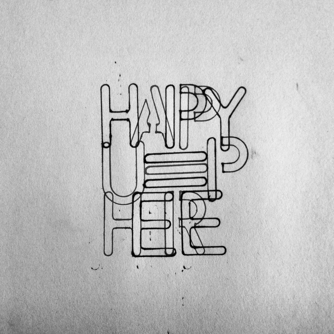 Mer typografi. Happy up here.