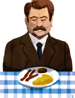 3-27-13: Day 341 ron swanson and the most important meal