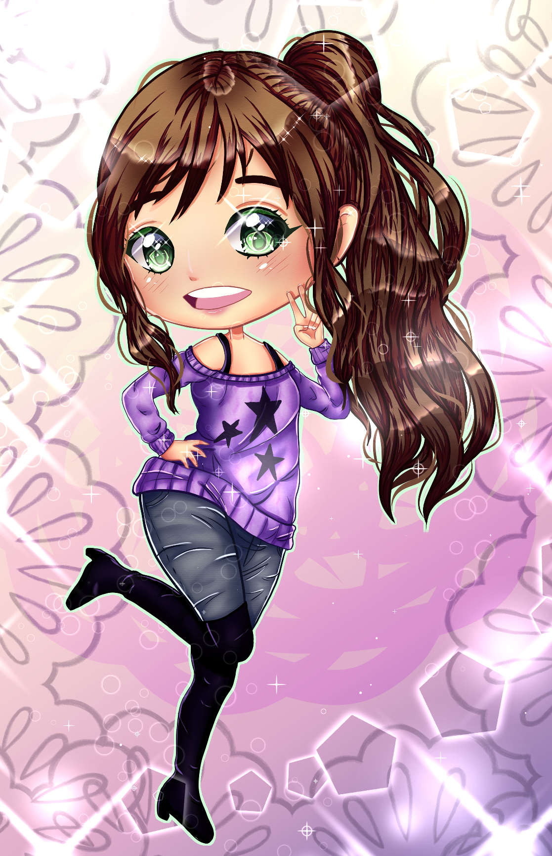 My first digital chibi! And it's of my OC Lysenne. (I have way too many characters xD I haven't shown you half of them xD) #anime girl#anime art#animeart#animegirl #anime / manga #digitalart#digital drawing#digitalIllustration#Digital Illustration#digital art#original character#originalCharacter#chibi#kawaii chibi