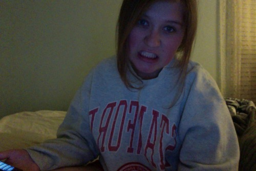 my favorite joke is when i wear this stanford sweatshirt
