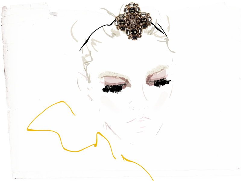 lashes like heavy drapes. illustration by @TOMFORDISMYDAD