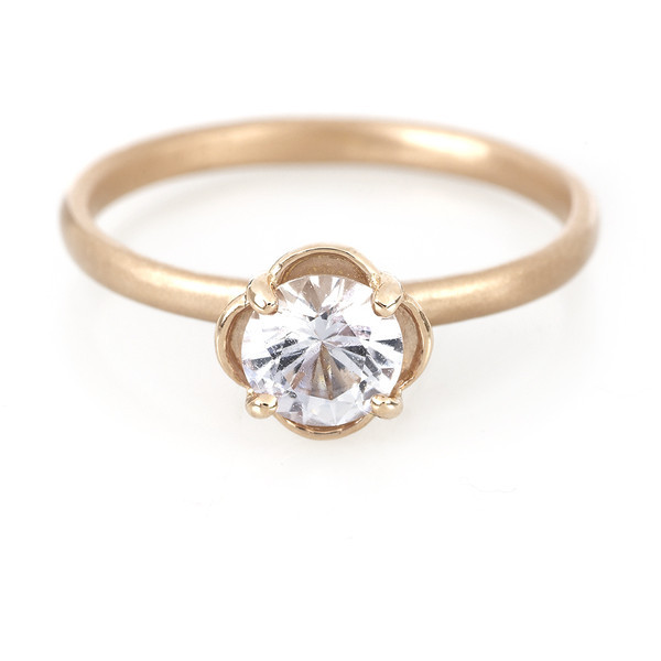 Megan Thorne Rose Gold Clover Ring   ❤ liked on Polyvore (see more vintage rings)