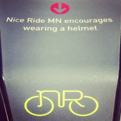 Good advice (and nice logo) #niceride #minneapolis #bike #logo #design
