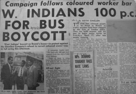 Today in labor history, April 30, 1963: Inspired by the Montgomery Bus Boycott, a group of West Indians in Bristol, England, organize a boycott of the Bristol Omnibus Company for its refusal to employ non-white workers on its buses. The boycott lasted for four months until the company reversed its discriminatory hiring practice.