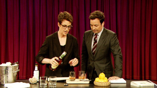 latenightjimmy:  Need a classier go-to cocktail? Rachel Maddow's Old Fashioned recipe is gonna change your life.  Noted and will pick up some cherries this summer for marination