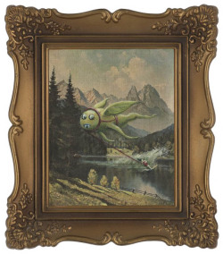 (via Adding Monsters to Thrift Store Paintings «TwistedSifter)