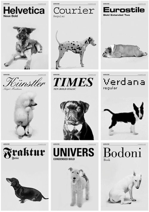 nevver:  Dogs as Fonts