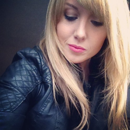 Leather days! #thethingtings #jacket #blonde #cowwear