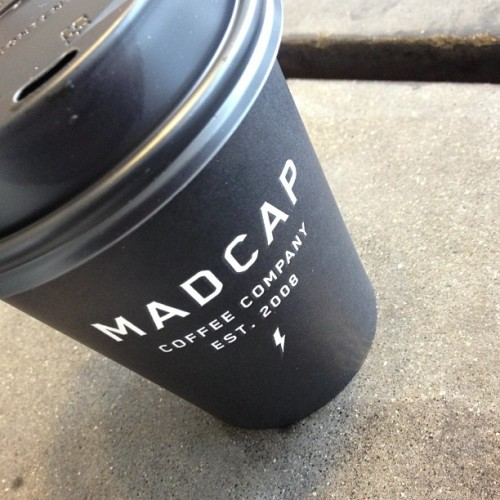Token #Madcap #coffee shot. Pretty sure it's a requirement. We should get discounts for the free promo, @madcapcoffee. (at Madcap Coffee)