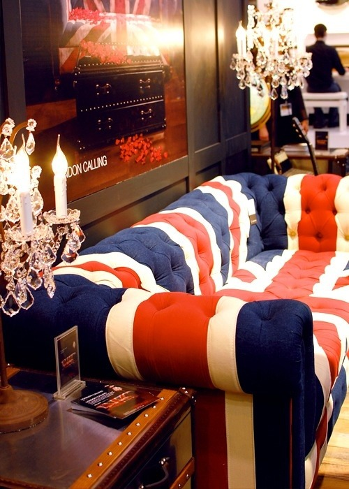 British sofa… For all that's style follow: BLOGFACEBOOK