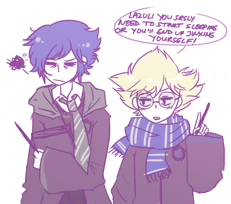 u know i'm in too deep in a ship when i draw hogwarts AU art