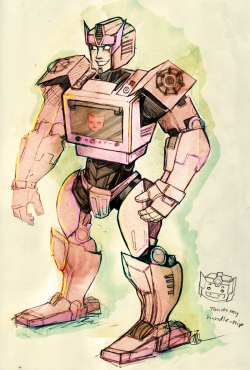 A scribbleconcept of Ezbake, the Autobot oven. His special skills include: broadcasting sensual saxophone solos whilst pelvic-thrusting with perfect rhythm, bad sexual innuendos, inexplicably getting lots of play despite being terrible at it, and creating delicious treats. For Eugenesis.